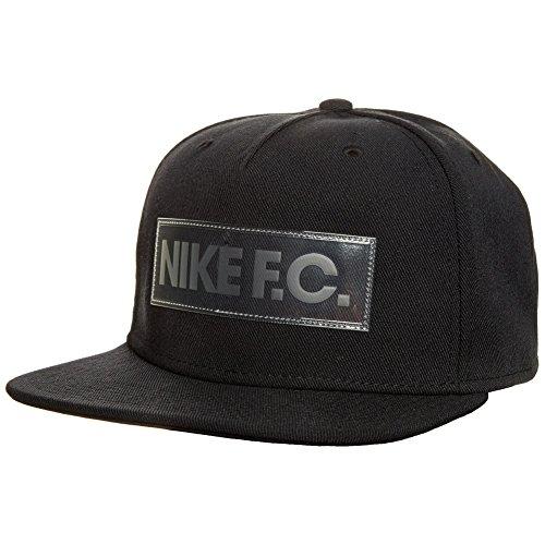 Price comparison product image Nike U NK FC True CAP Tennis Cap for Man, Black (Black / Black / White), One Size