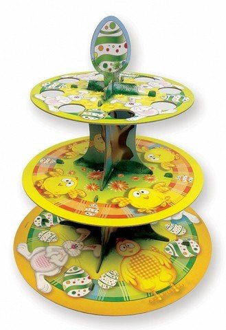 -Kuchen stehen (Kunststoff 3-tier-kuchen-stand)