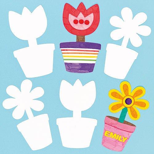 Blanko Pappformen Blumentopf Fur Kinder Zum Bemalen Dekorieren