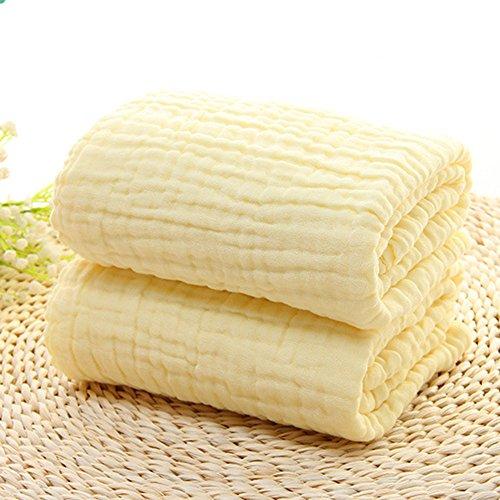 6 strati di garza di cotone ispessiscono nessun agente fluorescente asciugamano ( Colore : Bianca ) Giallo