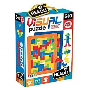 Headu 1041739-Visual Puzzle-Juego Infantil Educativo Stem-Pensamiento Creativo-Compone y CREA, Multicolor (IT20812)