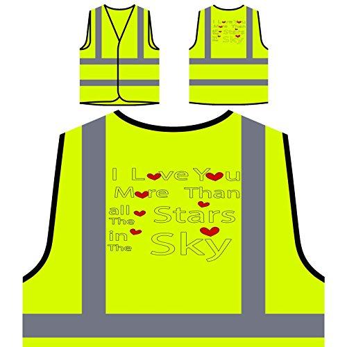 Valentinstag Hintergrund Personalisierte High Visibility Gelbe Sicherheitsjacke Weste v607v