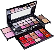 SHANY Fierce & Flawless All-in-One Makeup Set Compact with Mirror, 15 Eye Shadows, 2 Bronzers, 2 Blushes a