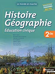 Histoire- Géographie- Education civique - 2de Bac Pro
