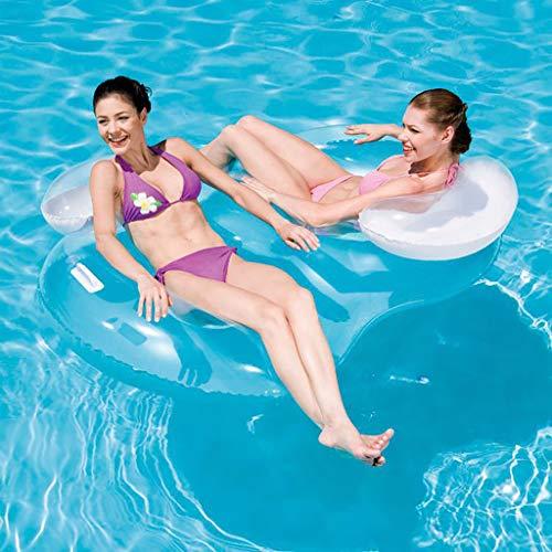chwimmt für Erwachsene Doppelkissen Schwimmring Aufblasbare schwimmende Reihe Schwimmkissen Wasser aufblasbares Spielzeug für die Sommerferien Pool-Party Reise, 188 × 117 cm ()
