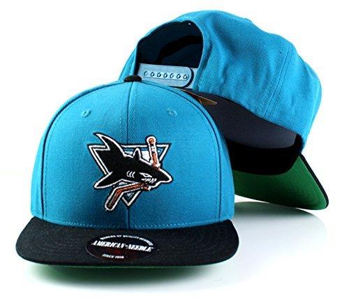 San Jose Haie NHL Mütze aus amerikanischer Nadelwolle, flach, verstellbar, Snapback