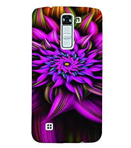 PrintVisa Corporate Print & Pattern Modern Art Flower 3D Hard Polycarbonate Designer Back Case Cover for LG K7