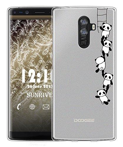 Sunrive Für DOOGEE Mix 2 Hülle Silikon, Handyhülle matt Schutzhülle Etui Case Backcover für DOOGEE Mix 2 5,99 Zoll(TPU Panda 1)+Gratis Universal Eingabestift