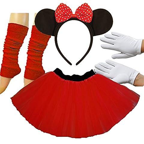 Minnie Mouse Costume Tutu - Minnie Mouse Mesdames robe tutu oreilles Gants
