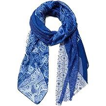 Desigual Foulard Femme Bleu Blanc ÉLã©Phant 5d6331f458a