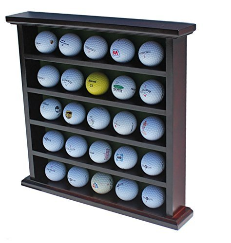 displaygifts Golf Ball Display Fall Wand Rack Schrank, Ohne Tür, GB25 (Mahagoni-Finish)