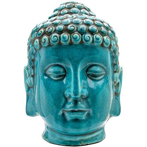 Türkis Crackle Glaze Thai Buddha Kopf 25,5cm -
