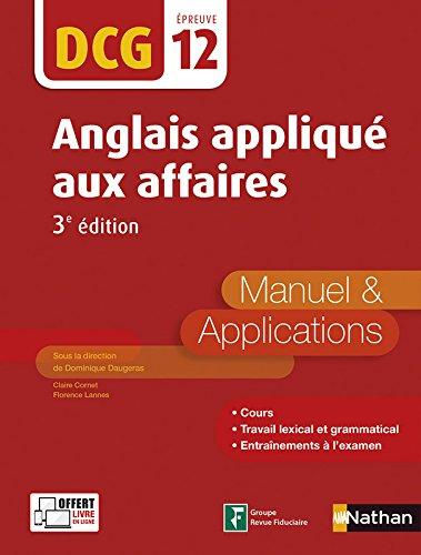 Anglais appliqué aux affaires - DCG 12 - 3e édition