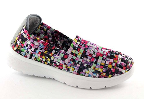 GRUNLAND TIPP SC1917 multicolore scarpe donna sneakers elasticizzata slip on Multicolore