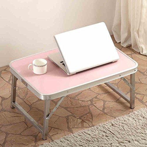 Feifei Alliage d'aluminium Simple Pliable Tables d'ordinateur Portable Dortoir Petit Bureau Paresseux Table d'apprentissage, Couleur Facultative économiser de l'espace (Couleur : B)