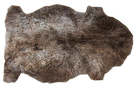 Tapis en peau de mouton MACCHIATO peau de décoration naturel, marron longueur ca. 70 / (Pelle Appartamento Divano)