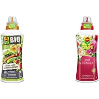 Compo BIO Obst- und Gemüsedünger für alle Obst- und Gemüsesorten, Natürlicher Spezial-Flüssigdünger, 1 Liter…
