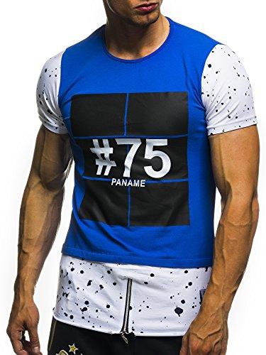 David&Gerenzo Herren T-Shirt oversize 1-10126 Blau