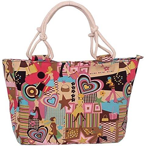 Swesy modo ha stampato le donne spalla borsa di tela