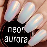 USHION Nail Powder Aurora Pulver Nägel Neon Meerjungfrau Pigment Chrome Pulver Spiegeleffekt Leuchtende Nägel -Mirror Powder Nails Mermaid Effect