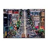 Leinwand-Panel Leinwand USA Kalifornien San Francisco Union Square Street 100x70