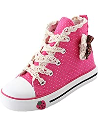 Scothen Niña de la zapatilla de deporte zapatos de lona del patrón de flor top deportivo de alto textiles Kid zapatillas niños los zapatos corrientes deportes bebés zapatos de la princesa