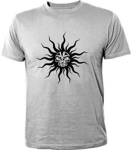 Mister Merchandise Cooles Fun T-Shirt Mad Sun Grau