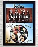 SGH SERVICES gerahmtes Foto The Beatles unterzeichnet CD Disk Let it be