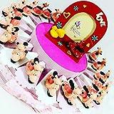 Sindy Bomboniere Torta BOMBONIERE Vespa da appoggio Smile Rosa Battesimo Nascita Compleanno Bambina (Torta 20 fette 1 Piano A)