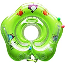 CalMyotis Swim Ring Bilayer Neck Baby Swim Seat Swim Aid Swim Laps para 0-24