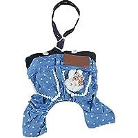 vestiti del cane / camici cielo blu denim / cute pet cotone , days blue , xs