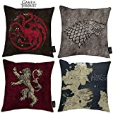 Wappen Logo Deko Kissen 46 x 46 x 8 cm Haus Lannister Game of Thrones