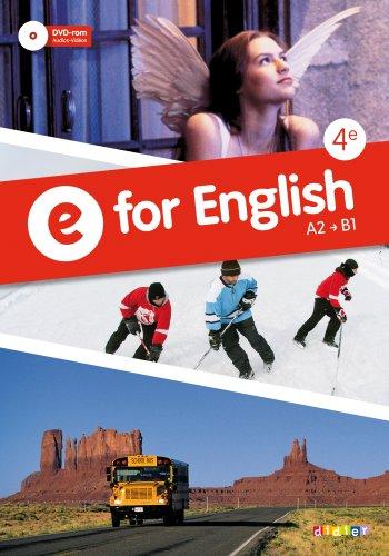 E for English 4e - Manuel + DVD-rom por Jean-Pierre Gabilan