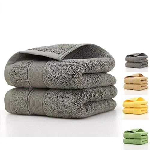 HUILIN 100% ägyptische Baumwolle 3-teiliges Hoteltuch-Set, 1 Badetuch und 2 Handtücher, 990 g/m², 3-teilig, 3-teilig - Handtuch-set Monogrammiert