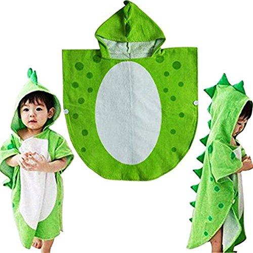 Mystery&Melody Kinder Dinosaurier Bademäntel mit Kapuze atmungsaktive Cartoon Tiere Kapuzen Cape Handtuch - Mutter Baby Mädchen Kostüm