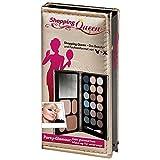 Shopping Queen, Party-Glamour Booklet Gold (1er Palette mit 18 Lidschatten, 2 Kompakt-Puder, 2 Rouge und ein Duo-Applikator + Spiegel)