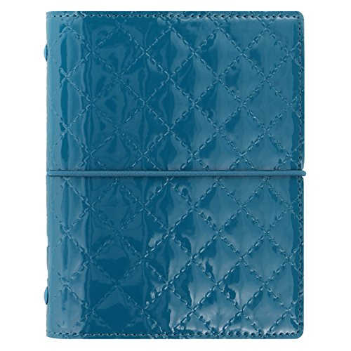 Filofax Domino Luxe Pocket Teal Organiser A7 Terminplaner 19mm Gummibandverschluß 027993