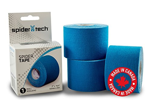SpiderTech Kinesiologie Sport Tape Rolle, blau