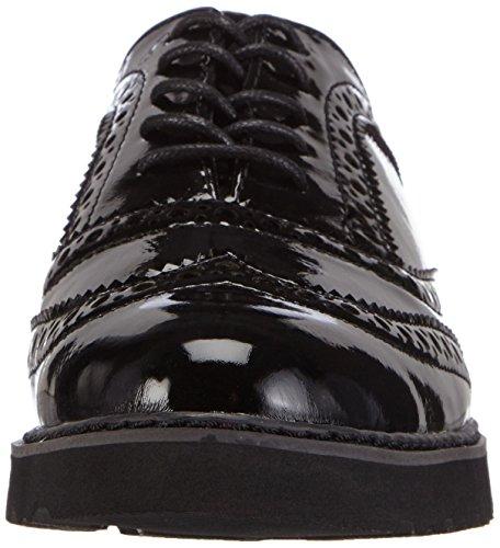 Marco Tozzi - 23600, Scarpe stringate basse brogue Donna Nero (Nero (Black Patent 018))