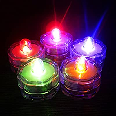 Candle Lights,Woopower 7 Color Changed Flameless LED Tea Light Battery Candle Floral Submersible Lamp Wedding Propose Party Christmas Holiday Decoration by Woopower