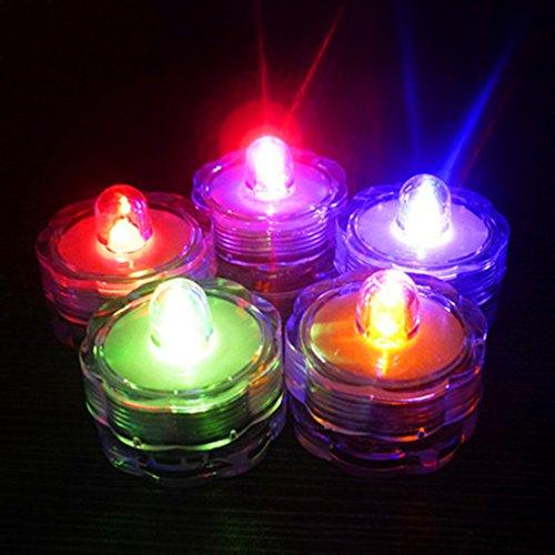 Vela luces, Woopower 7colores Cambiado LED sin llama té luz de la vela recargable Floral sumergible lámpara boda Proponer fiesta vacaciones de Navidad