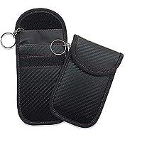 AKDSteel Car Key Bag Carbon FiberAanti-theft Key Cover Remote Control Key Bag Electromagnetic Shielding Key Package