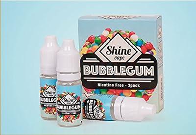 Shine Vape E-Liquid Vape Juice 30ml 3x10ML Eliquid Refills No Nicotine For Ecig Electronic Cigarettes Shisha Preminum High Grade VG PG 80 20 zero nicotine by S&S