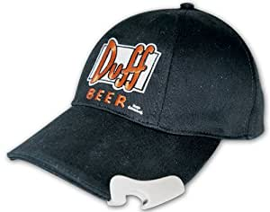 The Simpsons Duff Beer Cappello da Baseball con Logo ricamato e apribottiglie
