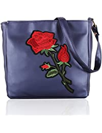 Voaka Women's Stylish Design Multi Flower Sling Bag For Girls Women