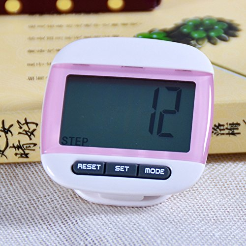 51sc3lv6ImL - BEST BUY #1 Liroyal New Multi-function Pedometer Distance Calorie Counter 5 Steps Buffer Error Correction Large LCD Display with Belt,Pink Reviews and price compare uk