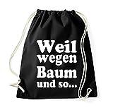 Youth Designz Turnbeutel Tasche mit Spruch / viele verschiedene Sprüche & Designs / Beutel Tasche Rucksack Jutebeutel Tasche Sportbeutel Tasche Fashion Hipster / Modell BAUM