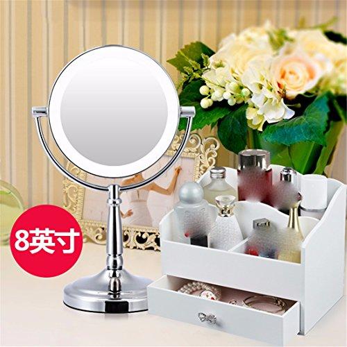 STAZSX Led de Escritorio Espejo de Maquillaje con luz Continental Espejo Princesa Espejo de Belleza...