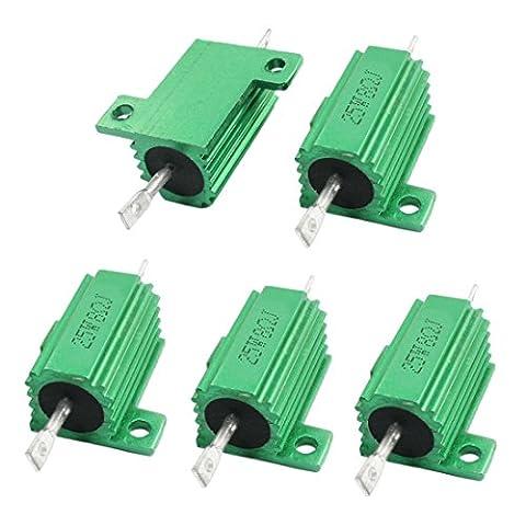 Sourcingmap a14041000ux1470 8 Ohm 5 Percent 25 W Aluminium Clad Heatsink Chassis Mount Wirewound Power Resistors - Assorted Colour