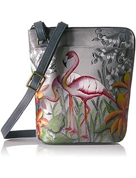 Anuschka handbemalte Ledertasche, Schultertasche für Damen, Geschenk für Frauen, Handgefertigte Tasche mit Fach...